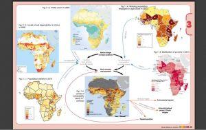 Mapas de estudo sobre o relacionamento dos factores físico-geográfico-ambientais com os factores humanos