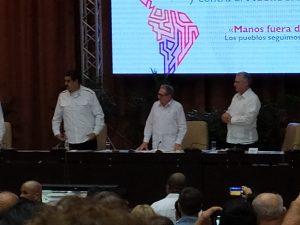 Maduro, Raúl y Díaz-Canel, en la clausura del Encuentro